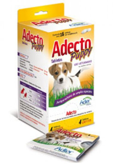 Adecto Puppy Tablets - Ivermectin, praziquantel, Fenbendazole, Pyrantel pamoate 4 Tbs.